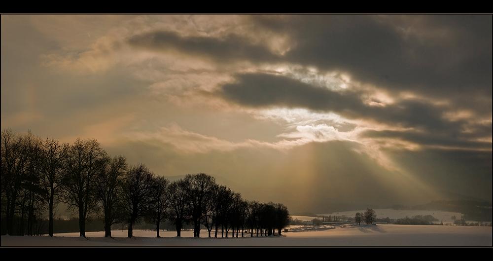 Winterlicher Spätnachmitag