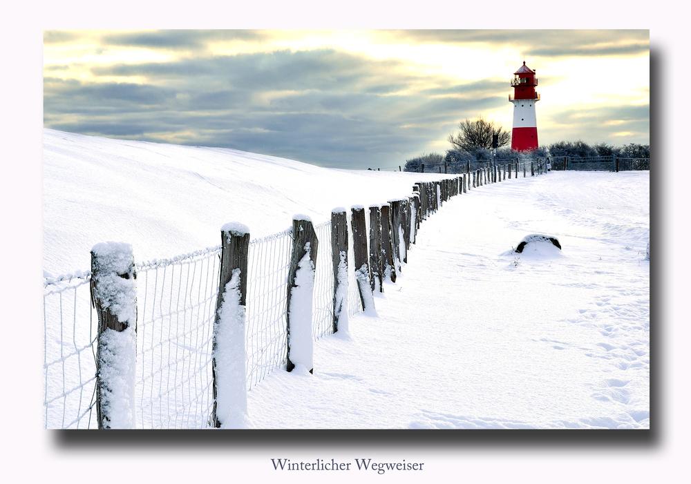 Winterlicher Wegweiser
