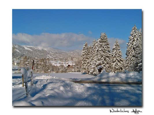 Winterliches Allgäu