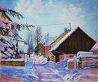 Winterliches Dorfidyll im Odenwald