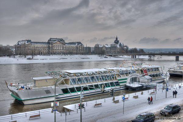 winterliches Dresden