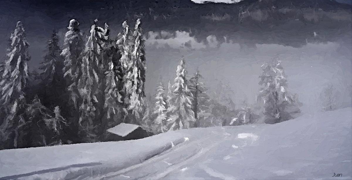 winterliches Gemälde
