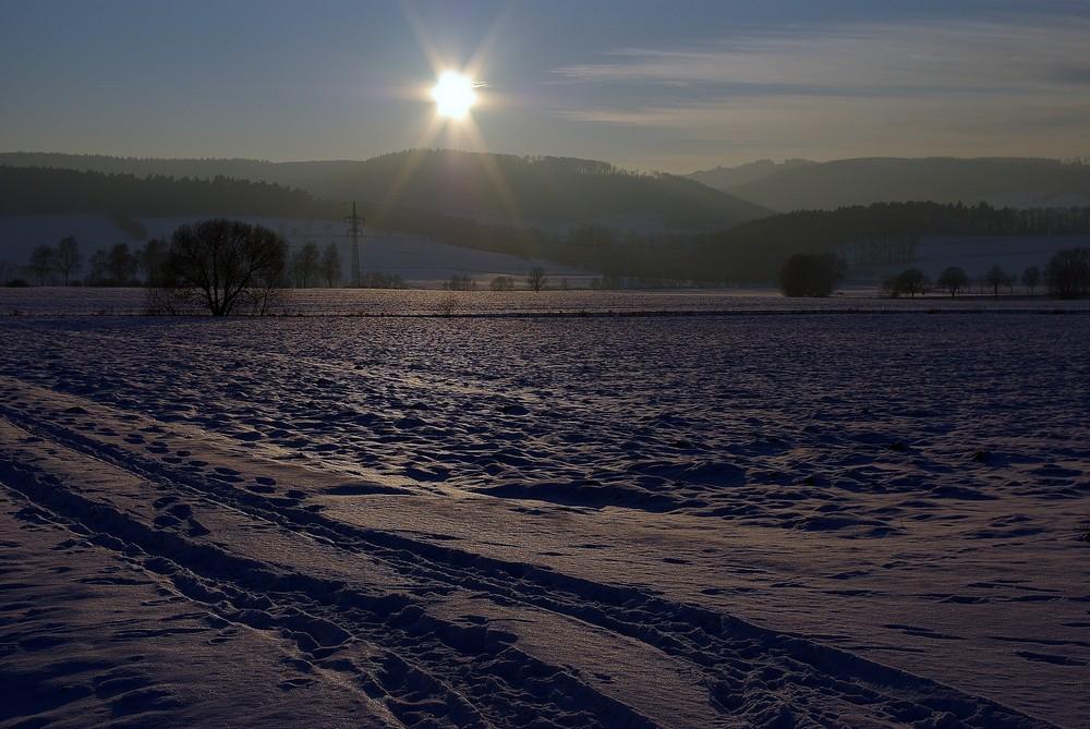 Winterliches Weserbergland