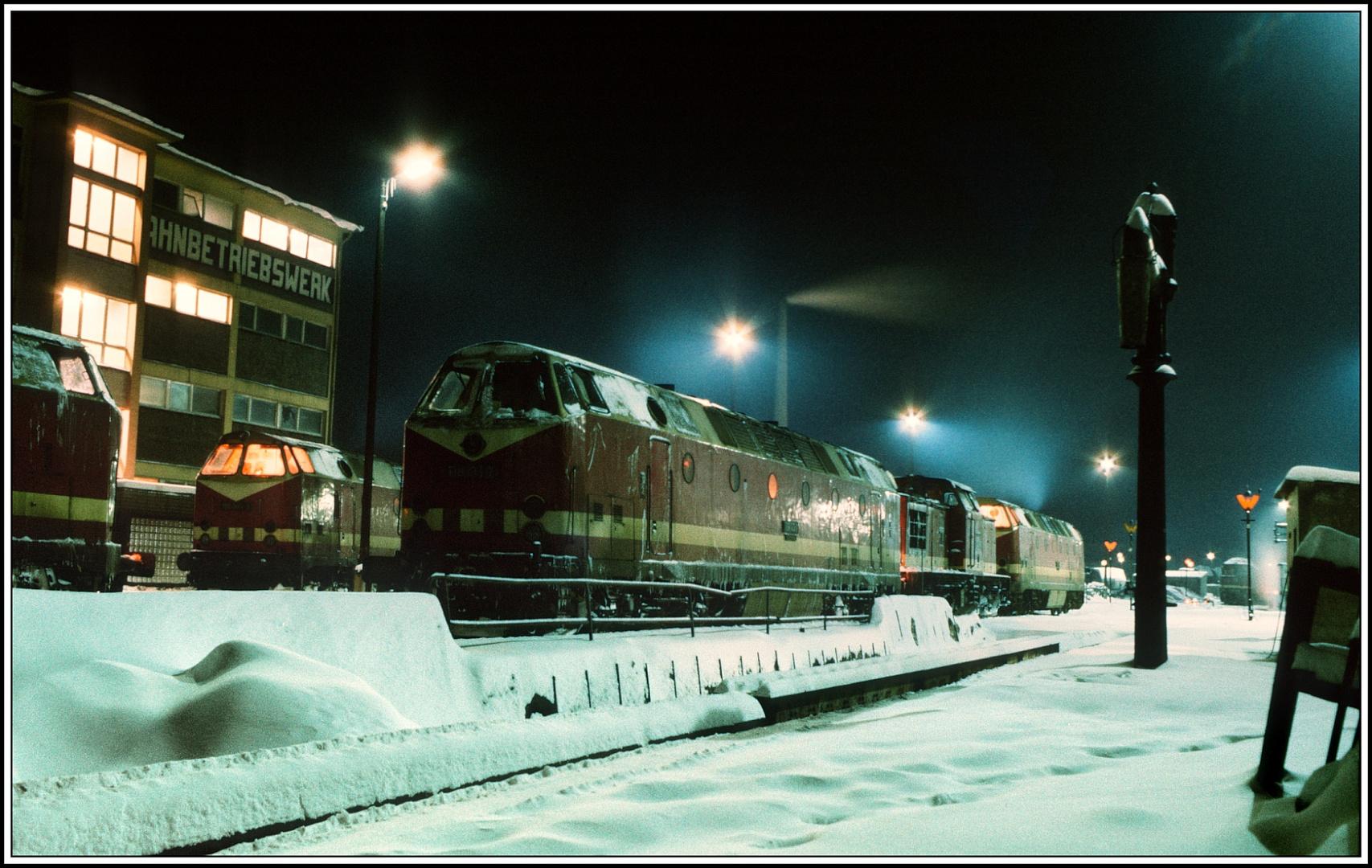 Wintermärchen Bw Saalfeld 1987 die Zweite !