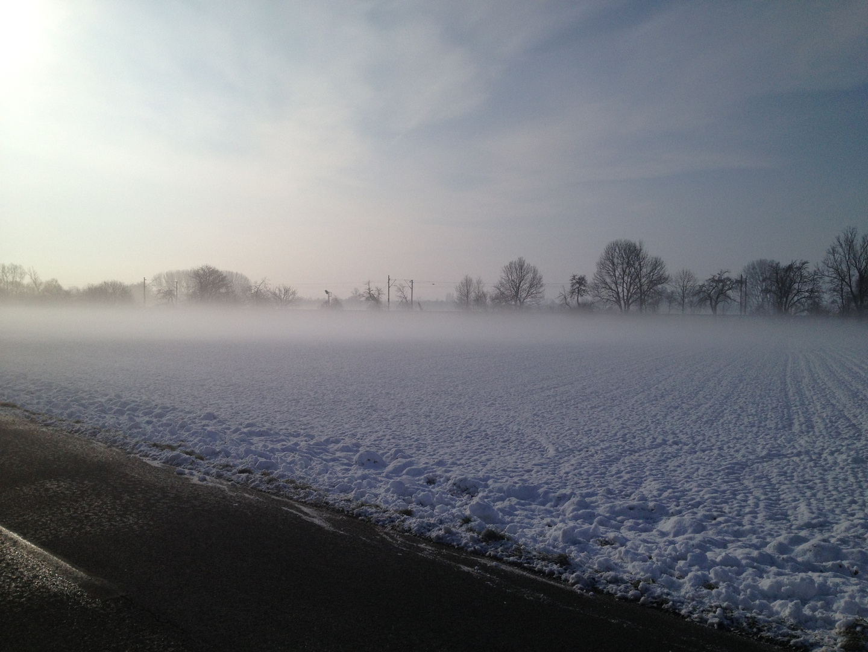 Wintermorgen auf dem Land