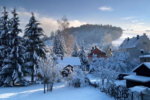 Wintermorgen im Erzgebirge
