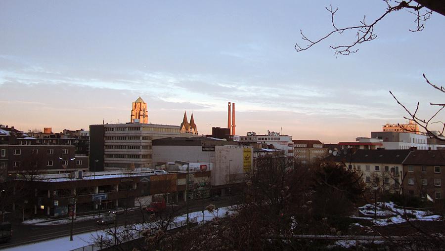 Wintermorgen in der Stadt