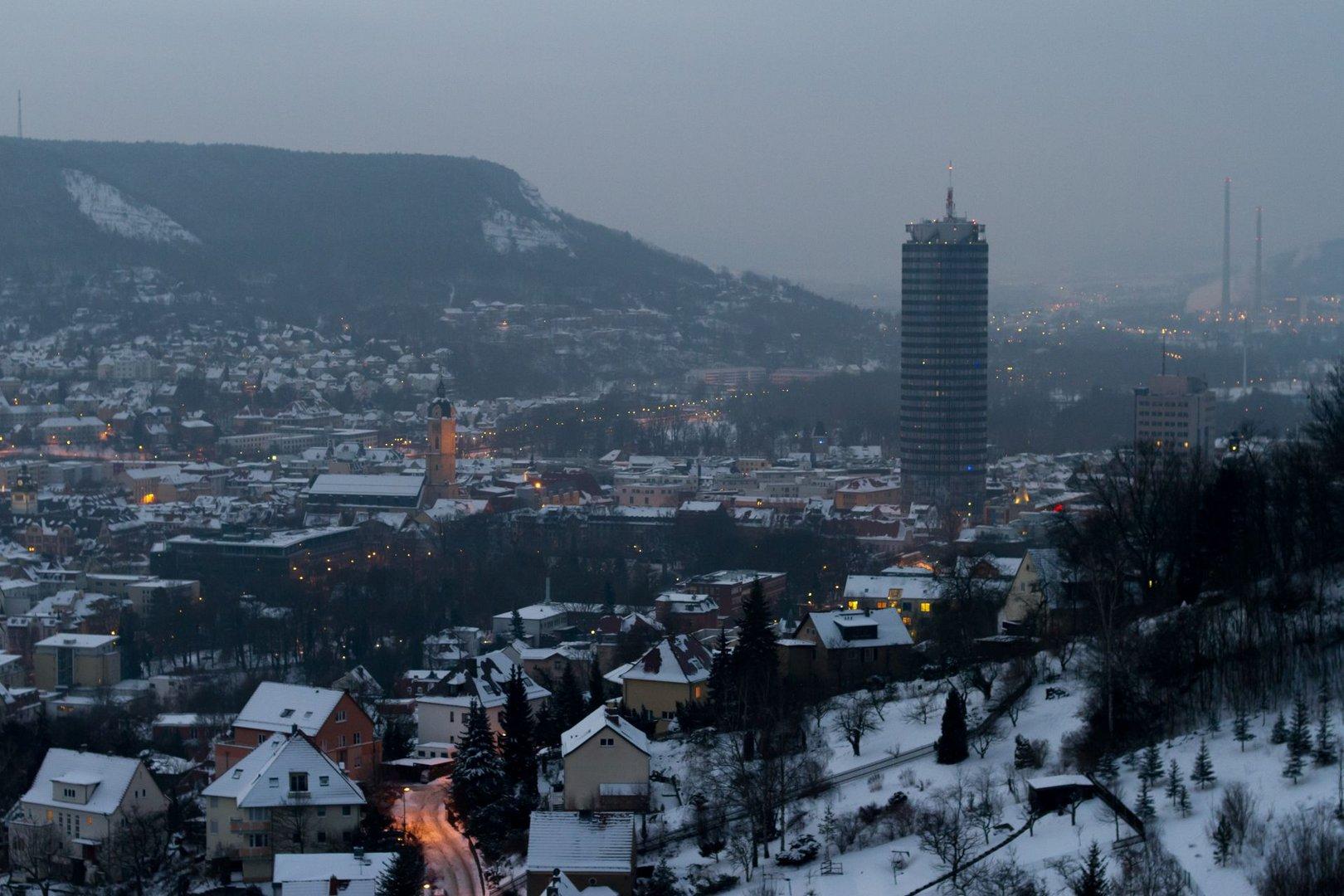 Wintermorgen in Jena