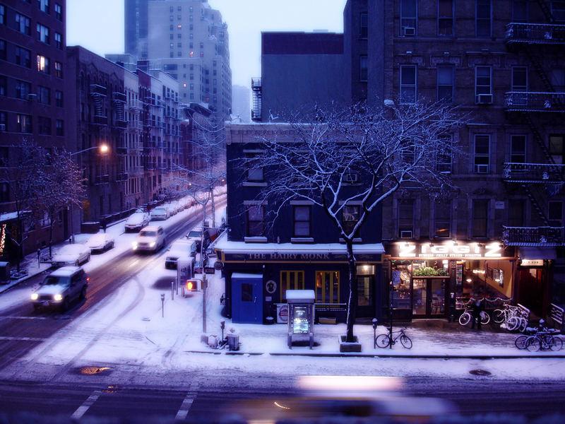 Wintermorgen in New York
