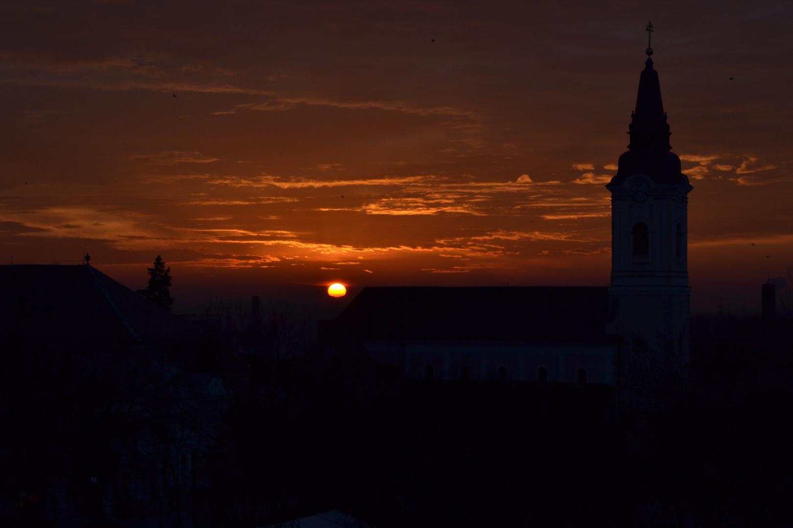 Wintermorgen in Ungarn