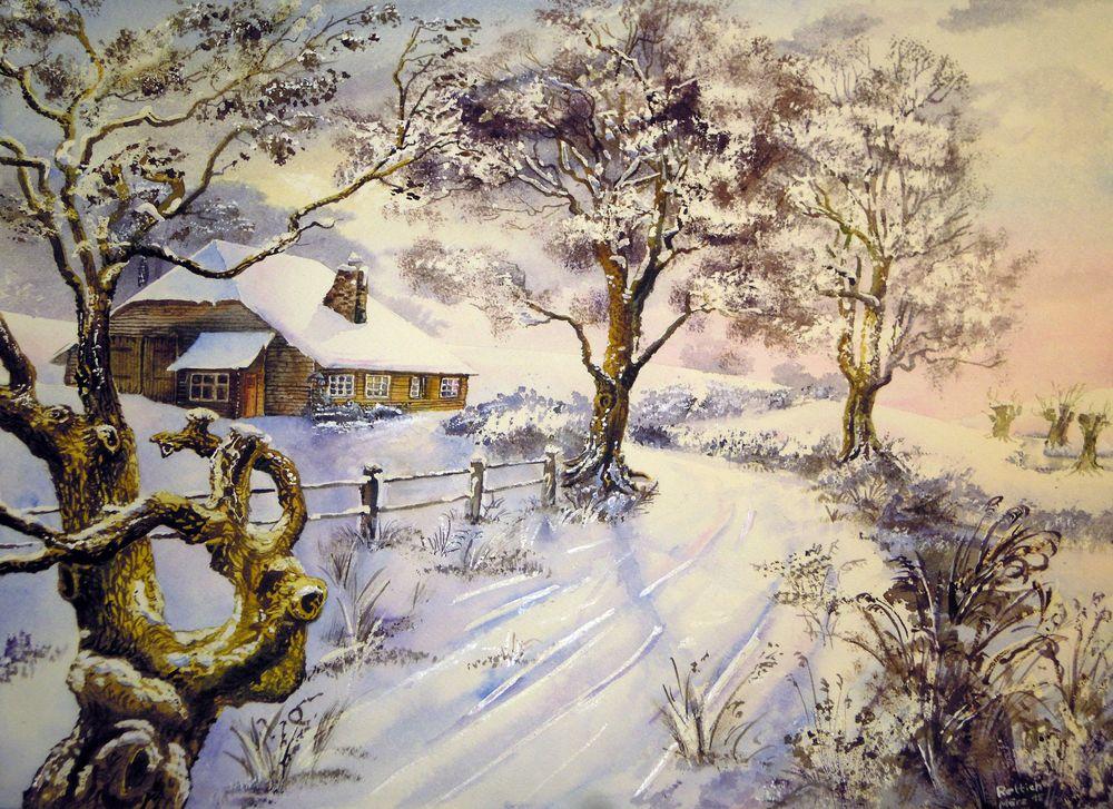 Wintermorgen , irgendwo zwischen Schorfheide und Uckermark
