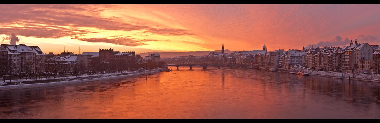 Wintermorgen Panorama