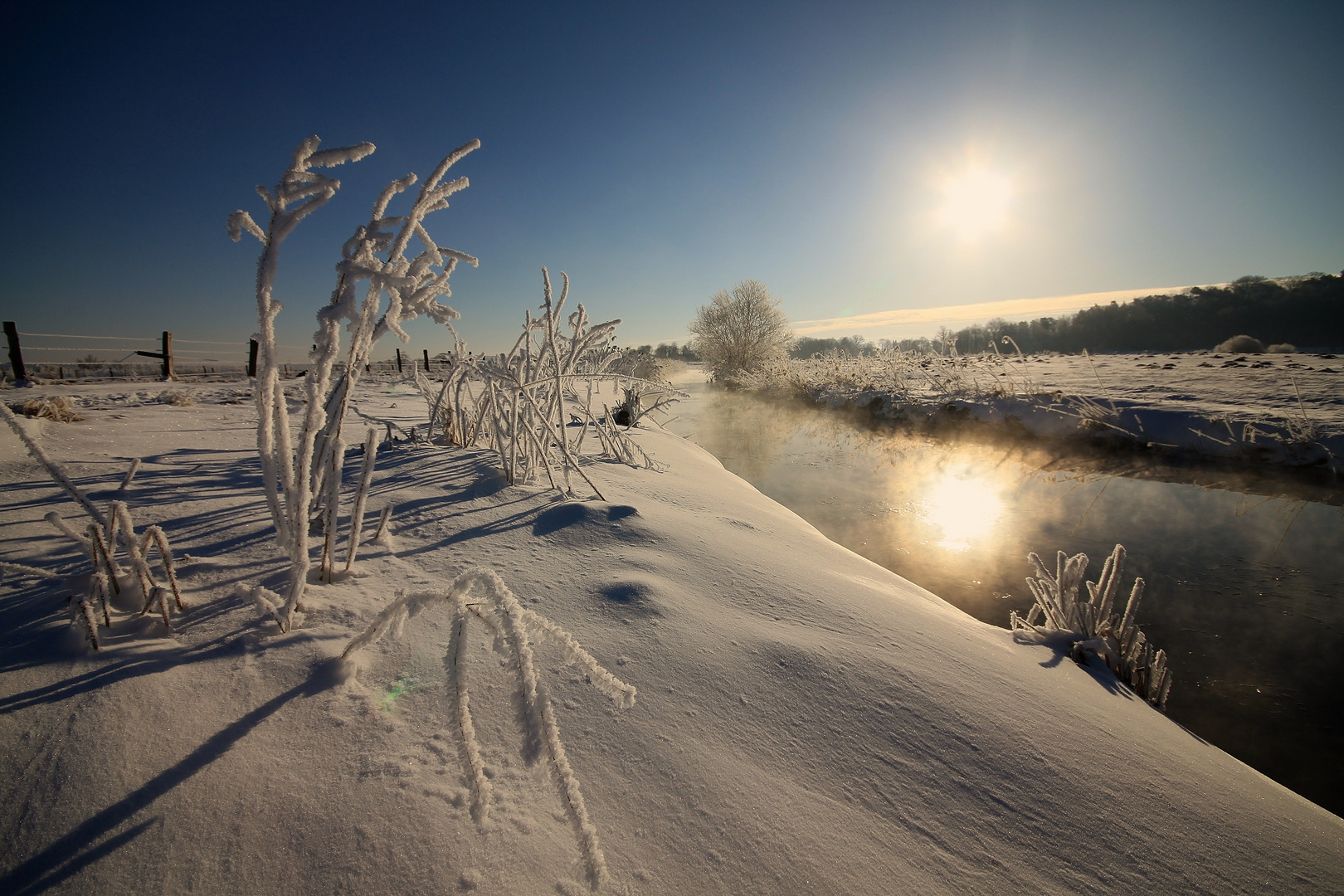 Wintermorgenstund an der Recknitz