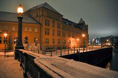 Winternacht an der Spree - Berlin Mitte