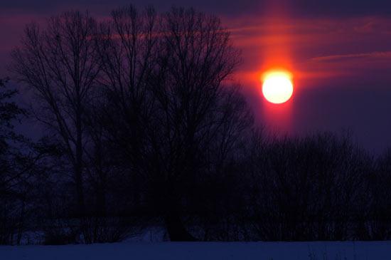 Winternacht bricht an