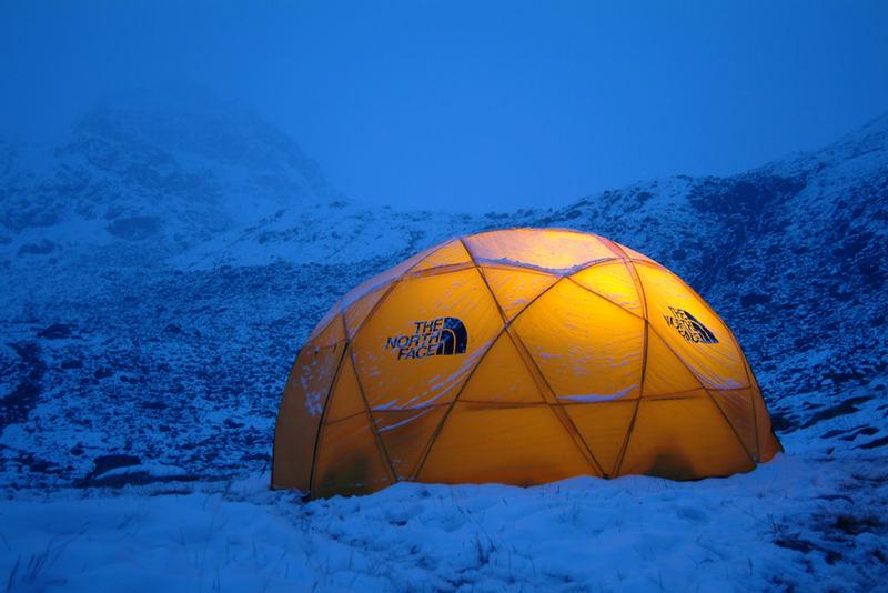 Winternacht im Zelt
