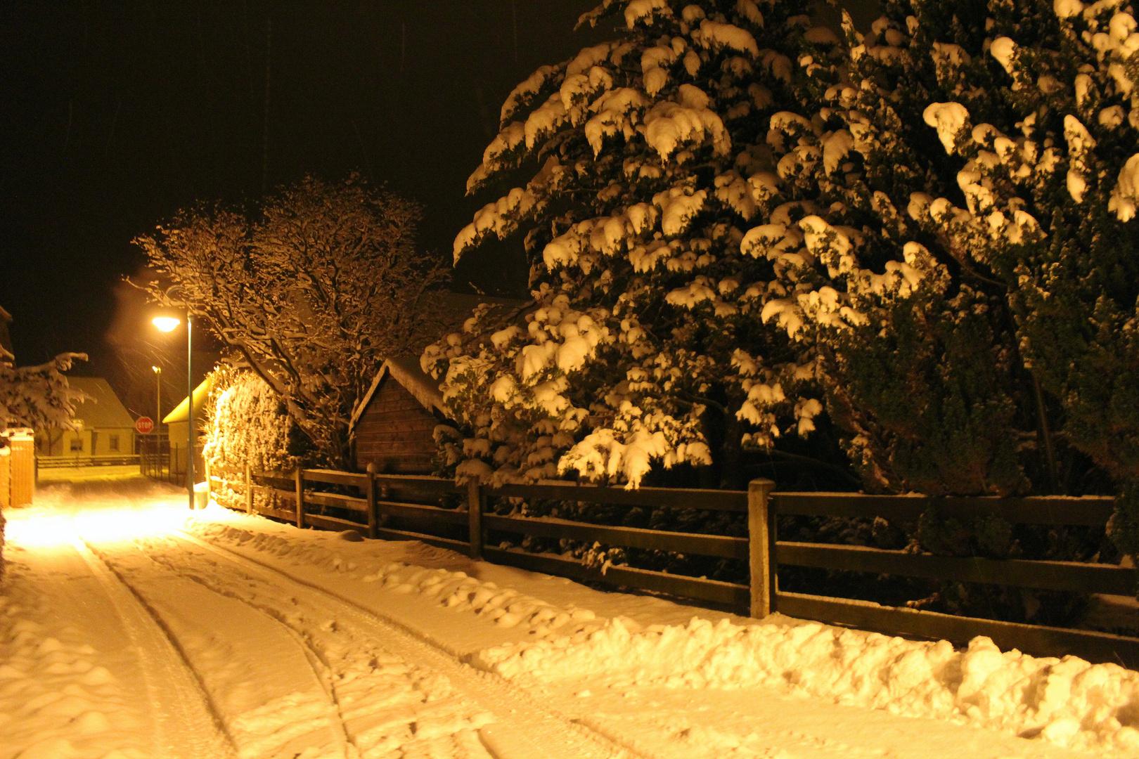 Winternacht in Baruth bei Bautzen