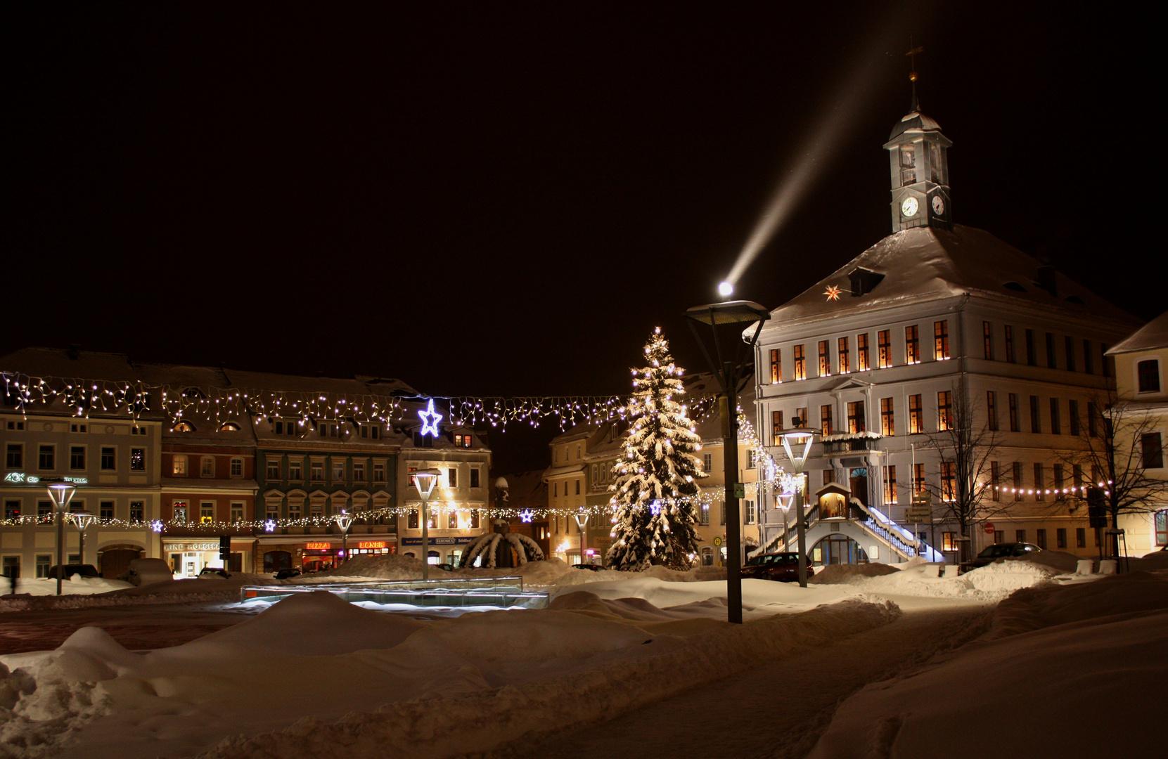 Winternacht in Bischofswerda
