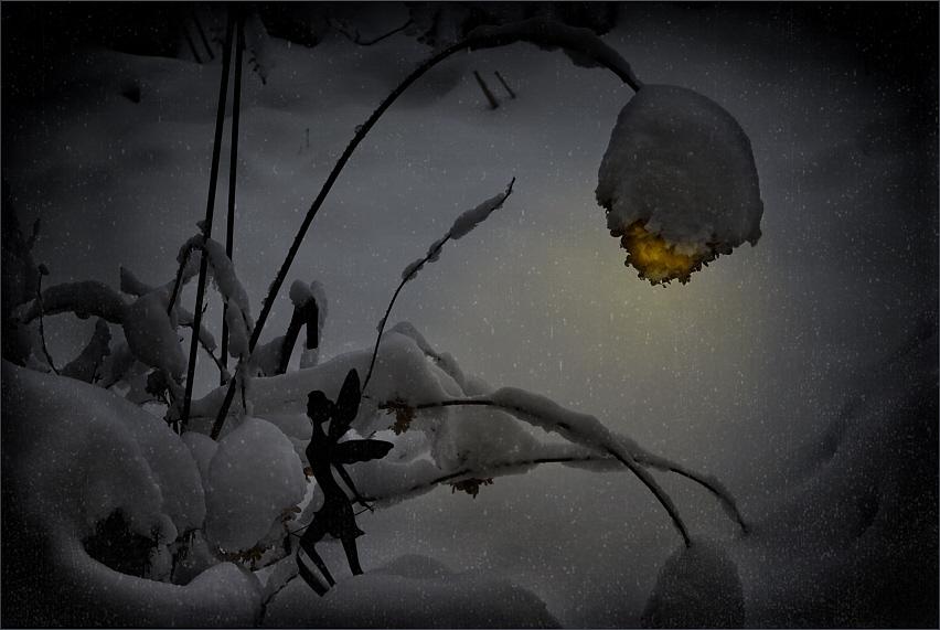 Winternacht zum neuen Jahr