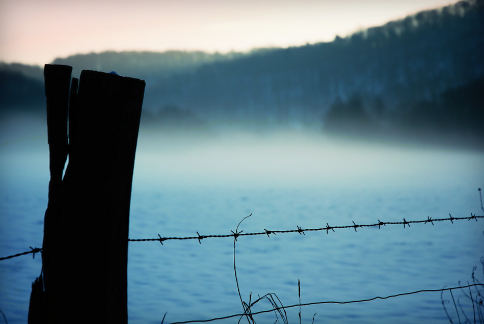 Winternebel hinterm Stacheldraht