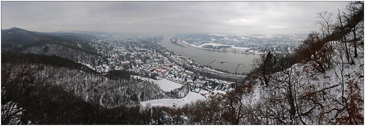 Winterpanorama vom Drachenfels