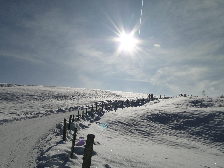 Winterpfad auf dem Zugerberg