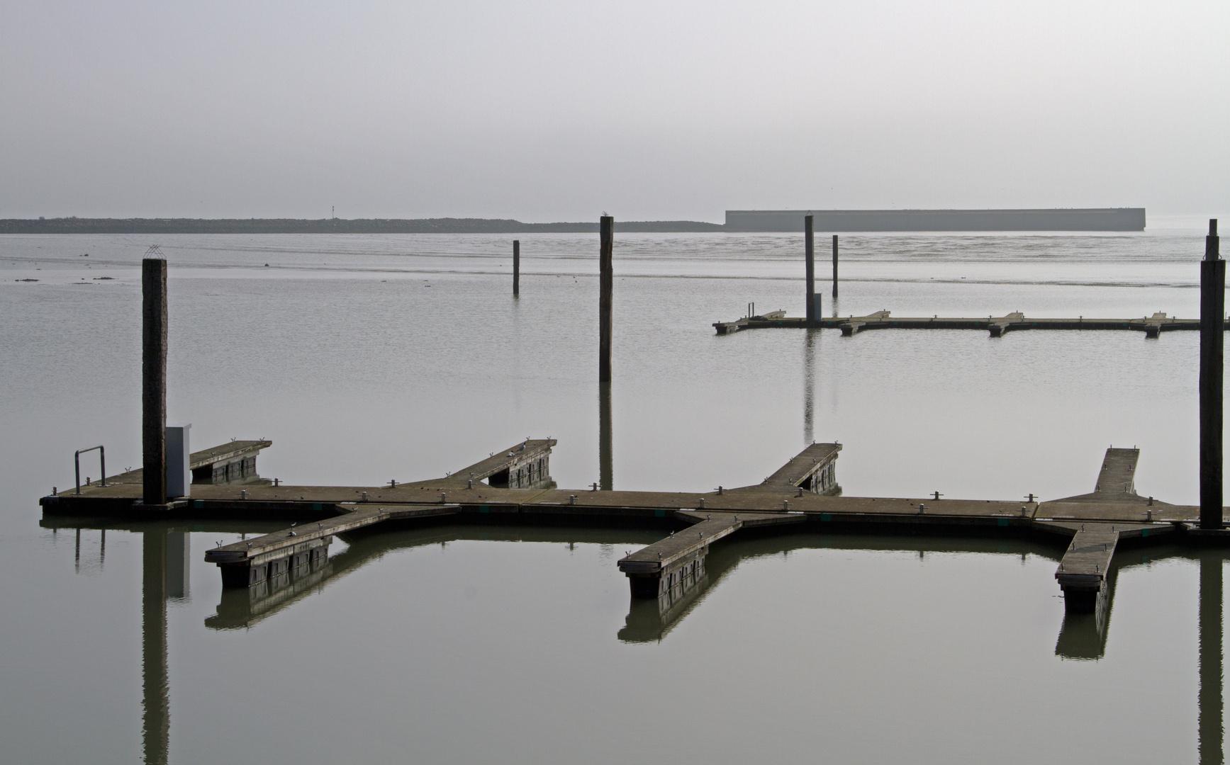 Winterruhe im Hafen von Langeoog
