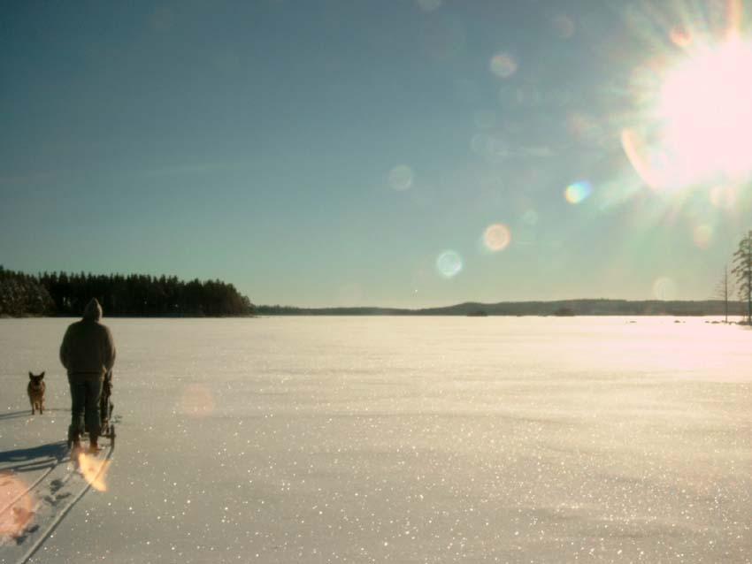 Wintersee in Schweden