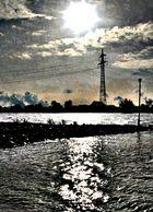 Wintersonne am Rhein/Du-Walsum