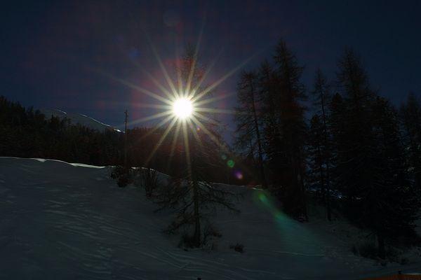 Wintersonne über Samnaun