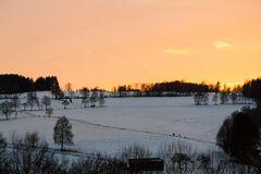 Wintersonnenuntergang in der Rhön
