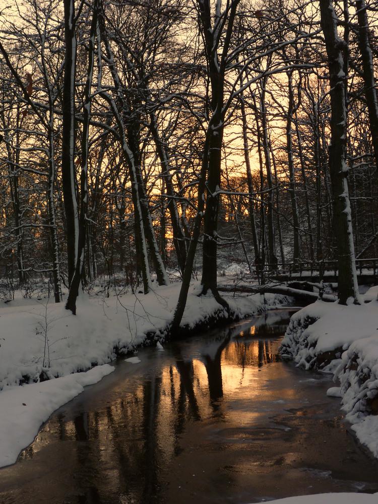 Winter,Sonnenuntergang-Stimmung