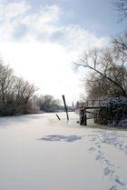 Winterspaziergang auf dem Eis