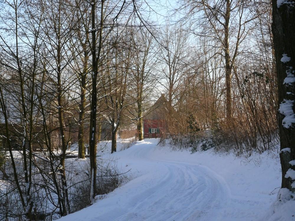 Winterspaziergang im Freilichtmuseum