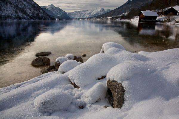 Winterstille am Grundlsee