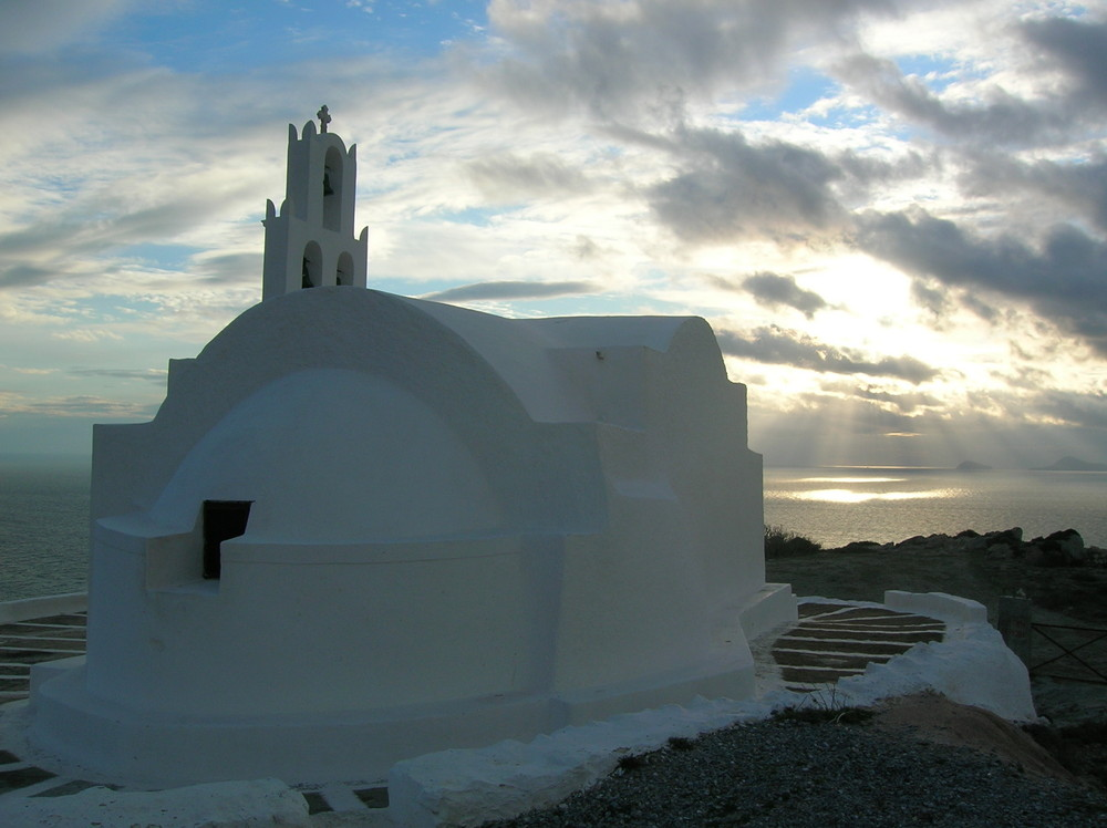 Winterstimmung auf Santorini