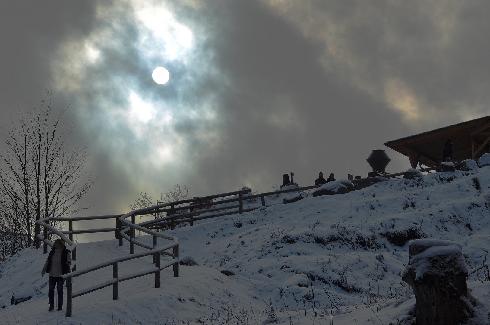 Winterstimmung auf Torfhaus am 12. Januar 2014