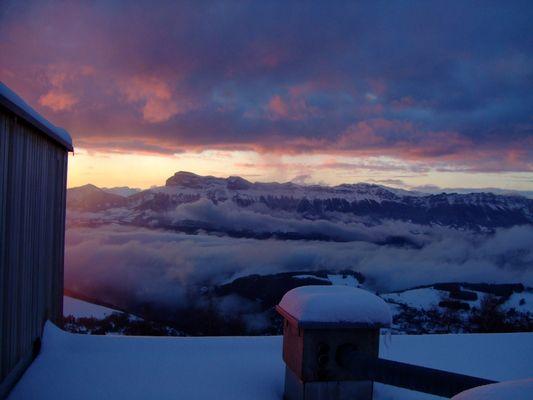 Winterstimmung bei Sonnenuntergang