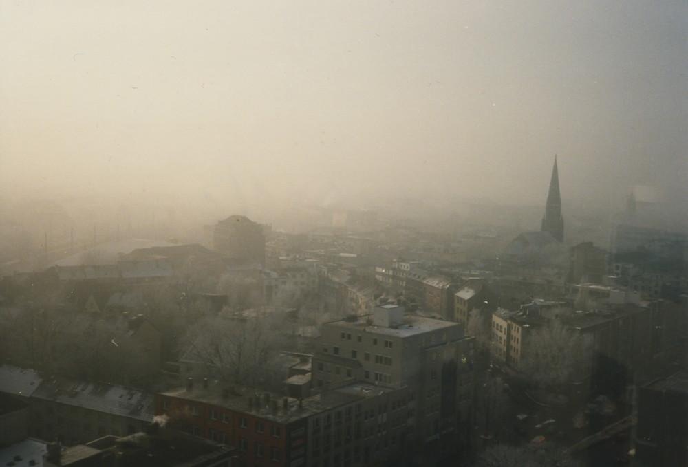 Winterstimmung über Bochum