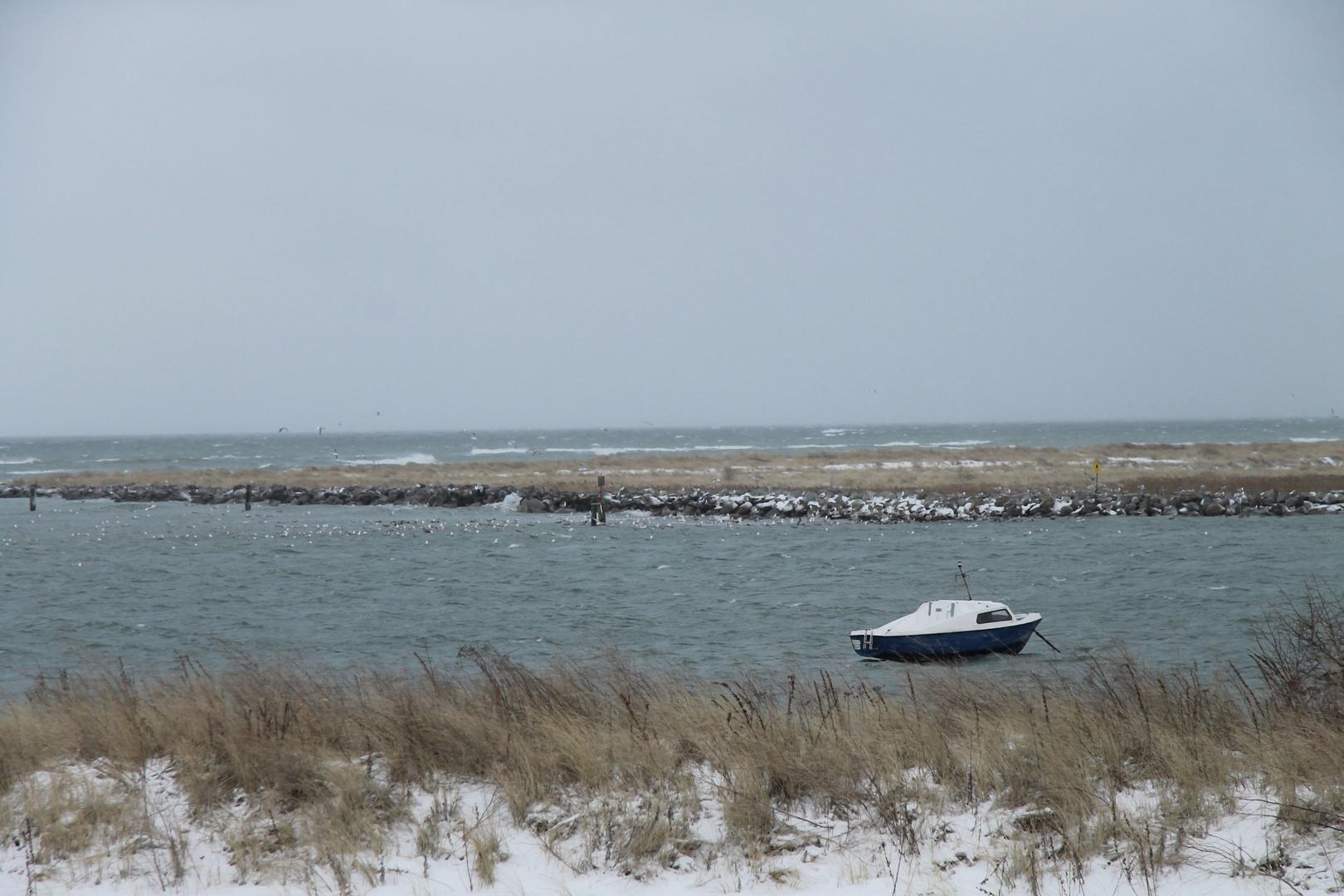 Wintersturm auf der Ostsee