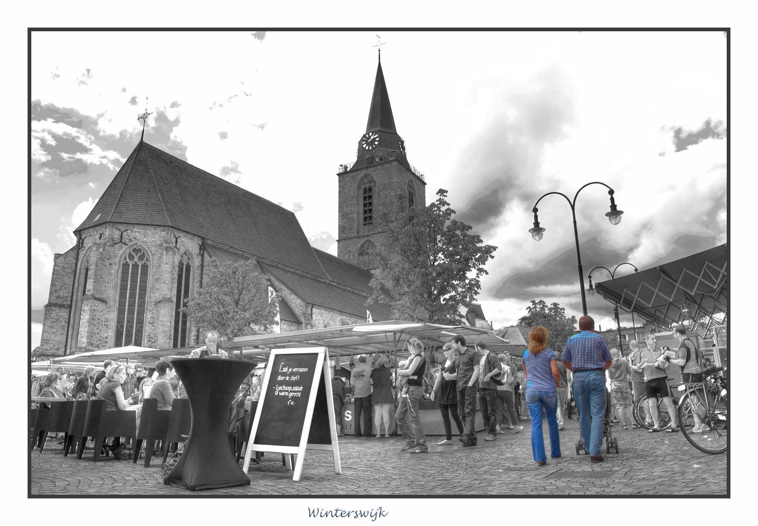 Winterswijk , HDR , Marktplatz ,Kirchhof ,