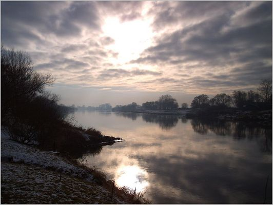 Wintertag an der Weser