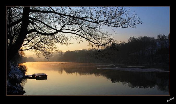 Wintertage #7b (Morgengluehen)