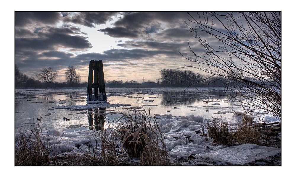 Wintertraum an der Elbe