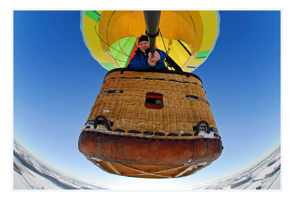 winterupgrade: Selbstportrait im Ballon