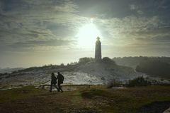Winterurlauber am Leuchtturm Dornbusch
