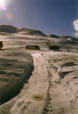 winterweg in norwegen