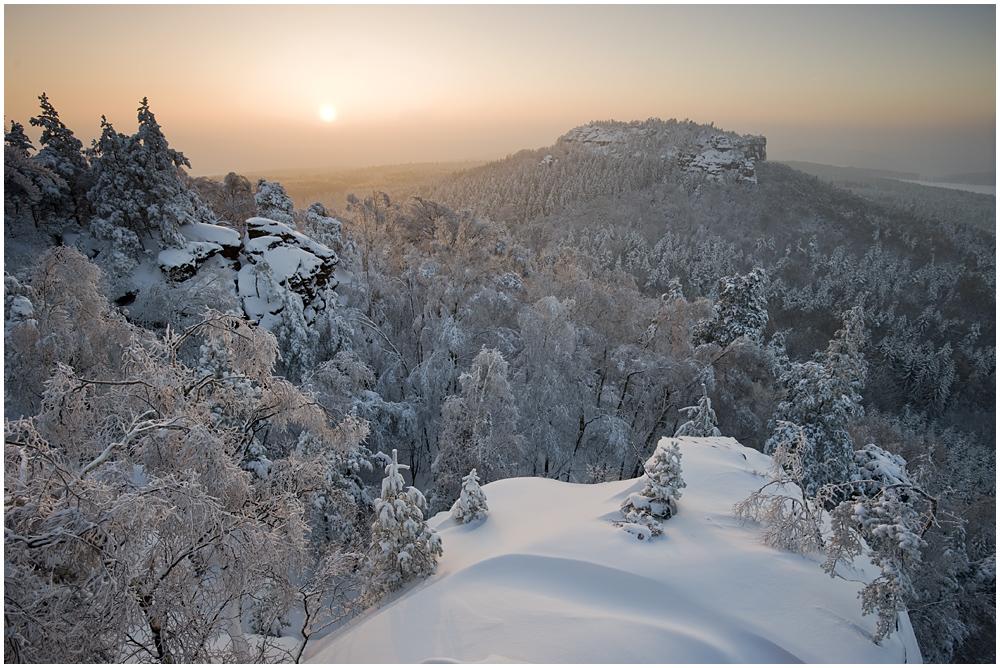 Winterwelt am Papststein...