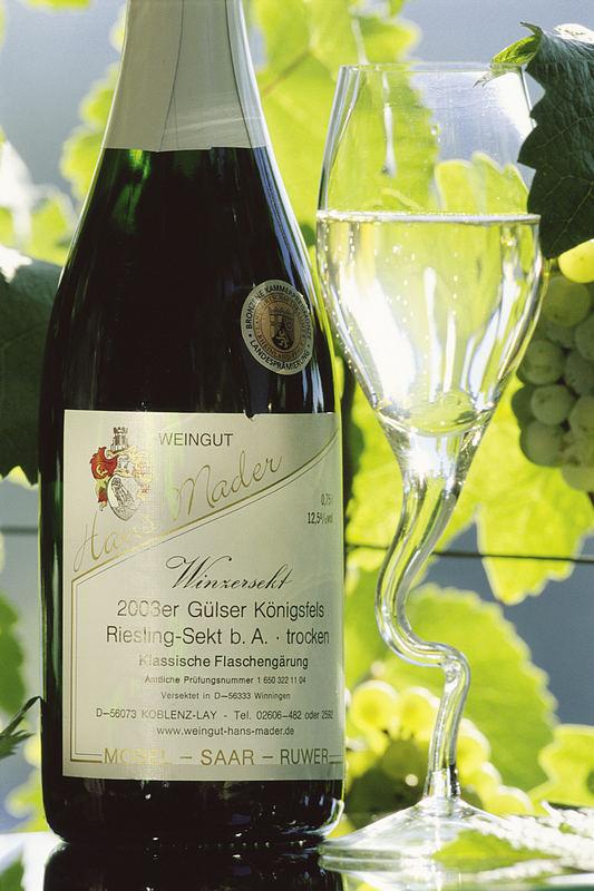 Winzersekt vom Weingut Mader in Koblenz-Lay