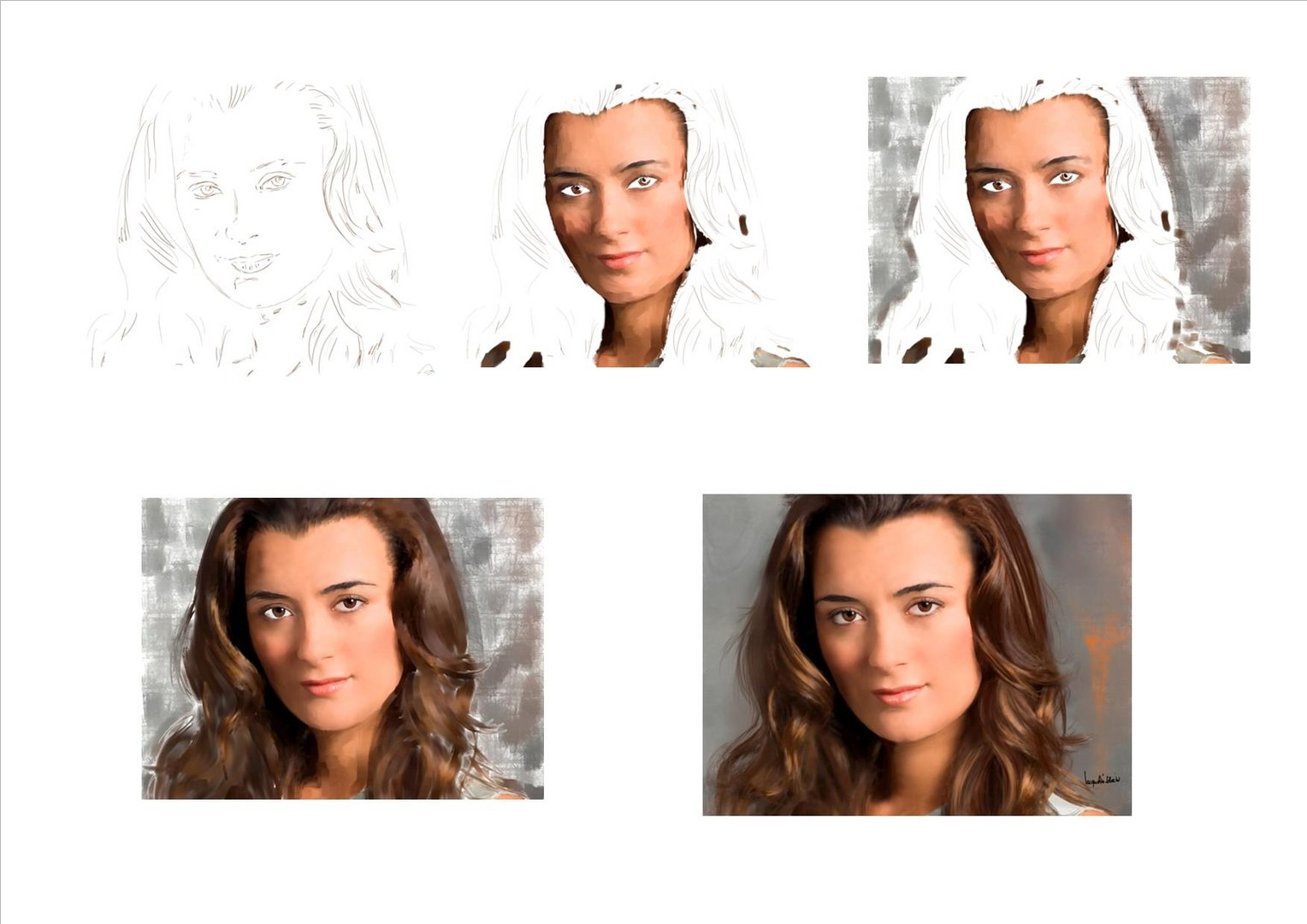wip - digital painting ziva